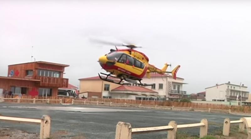 Montalivet - helico Dragon 33 Securité Civile