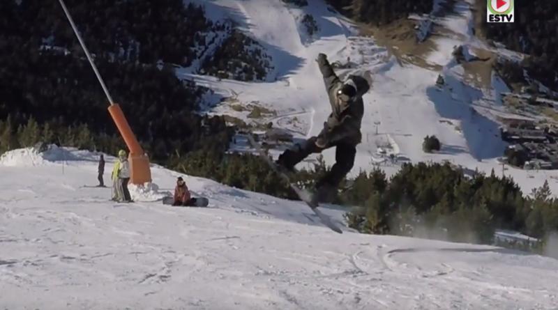 Andorra action snowboard a Grau-Roig