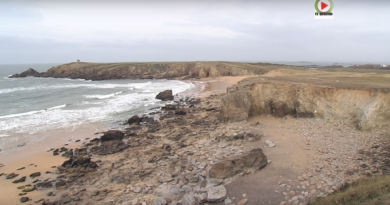 Quiberon - Terrible érosion de la Cote Sauvage